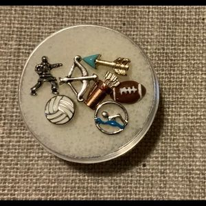 Origami owl assorted sports hobbies locket charms